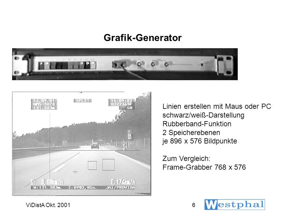 ViDistA Okt. 20016 Grafik-Generator Linien erstellen mit Maus oder PC schwarz/weiß-Darstellung Rubberband-Funktion 2 Speicherebenen je 896 x 576 Bildp