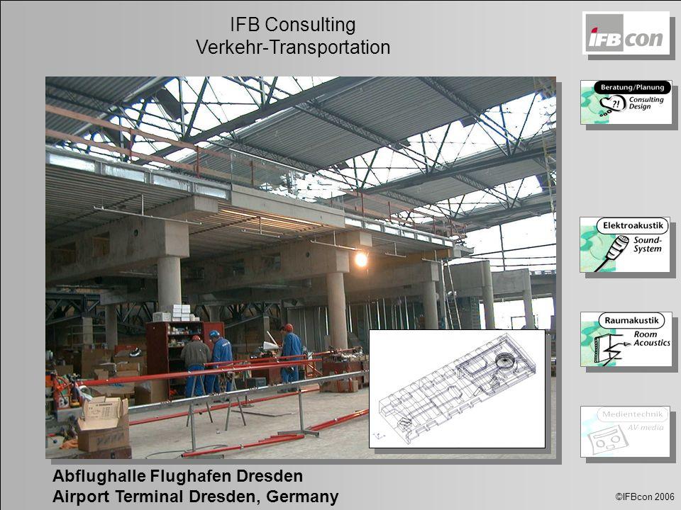©IFBcon 2006 IFB Consulting Verkehr-Transportation Abflughalle Flughafen Dresden Airport Terminal Dresden, Germany