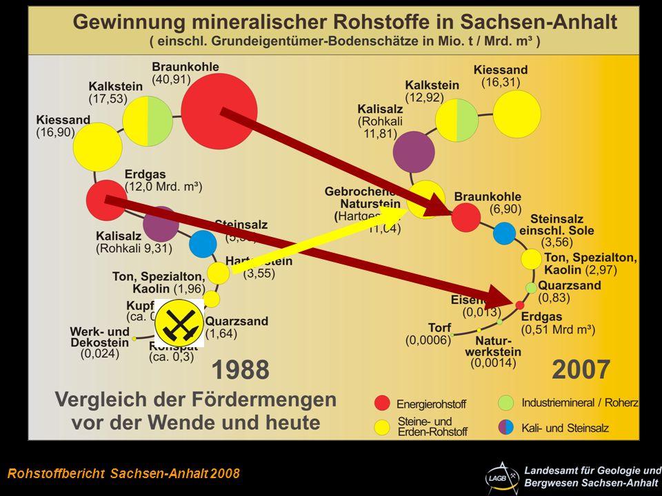 Autor: Klaus Stedingk Bodenschätze in Sachsen-Anhalt Rohstoffe Anteile 2007