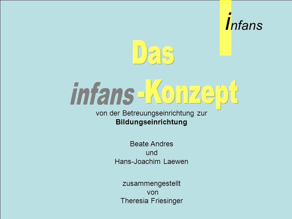 i nfans von der Betreuungseinrichtung zur Bildungseinrichtung Beate Andres und Hans-Joachim Laewen zusammengestellt von Theresia Friesinger