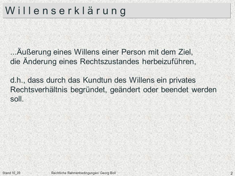 Stand 10_09Rechtliche Rahmenbedingungen/ Georg Boll 53