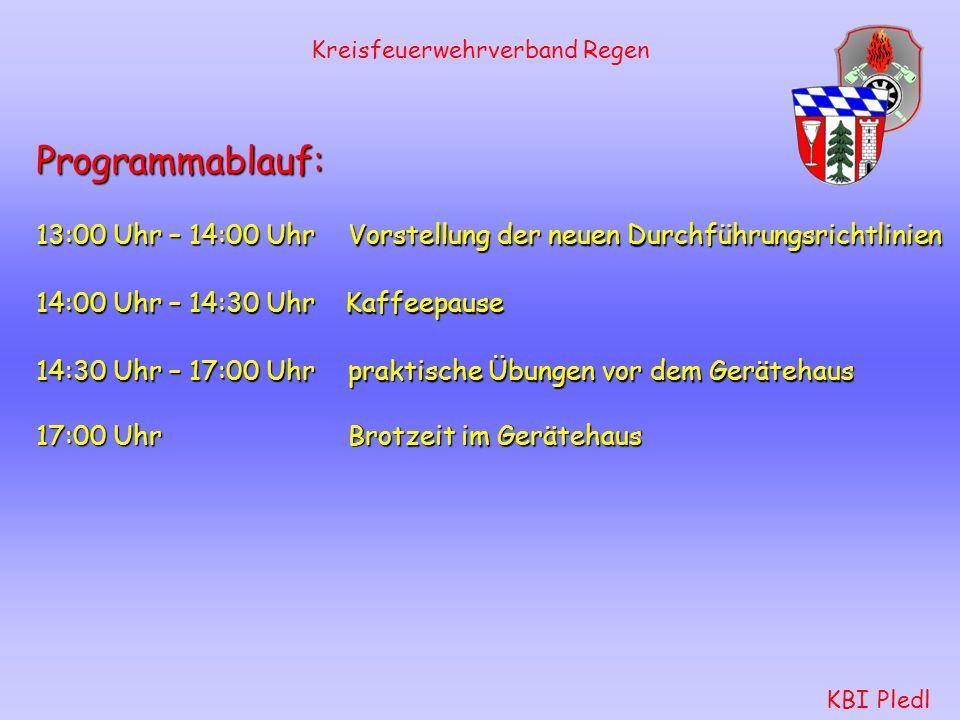 Kreisfeuerwehrverband Regen KBI Pledl Was ändert sich grundsätzlich .