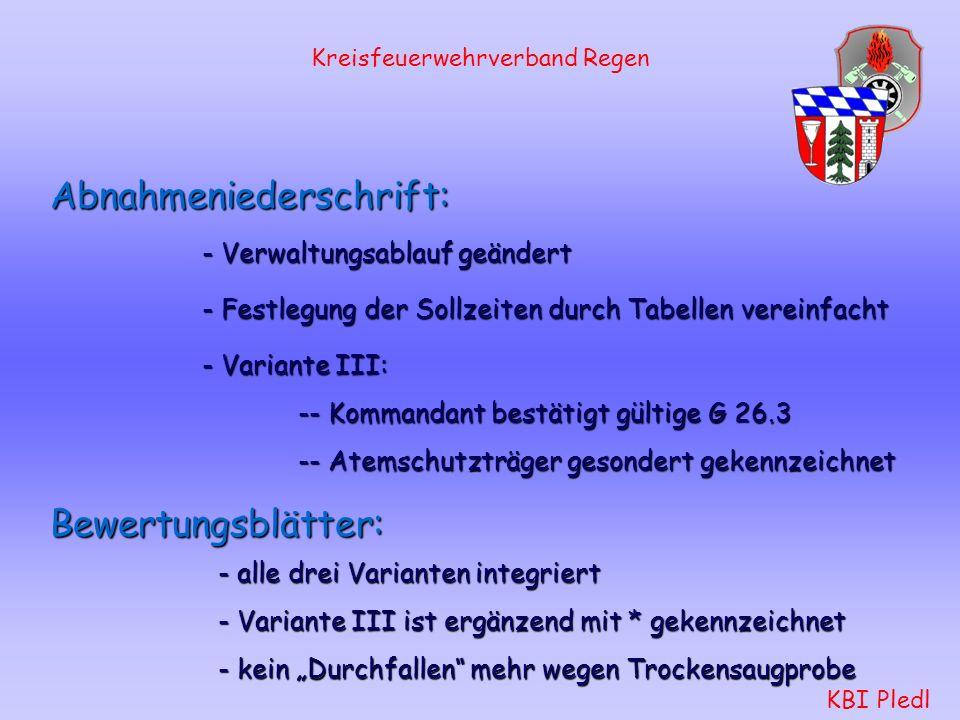 Kreisfeuerwehrverband Regen KBI Pledl Variante III Innenangriff-Wasserentnahme aus Hydrant Schlauchtrupp: baut die Verkehrsabsicherung auf. stellt sic