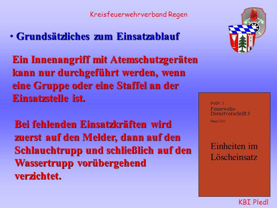 FwDV 3 Feuerwehr- Dienstvorschrift 3 Stand 2005 Einheiten im Löscheinsatz Kreisfeuerwehrverband Regen KBI Pledl Antreteordnung in Bayern nach Kommando
