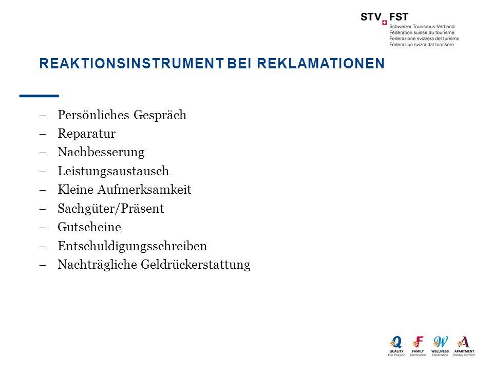 BESCHWERDEGRÜNDE Quelle: Siegenthaler, A.: Beschwerdemanagement im Tourismus überprüft am Beispiel der Schweizer Hotellerie, Bern 1998