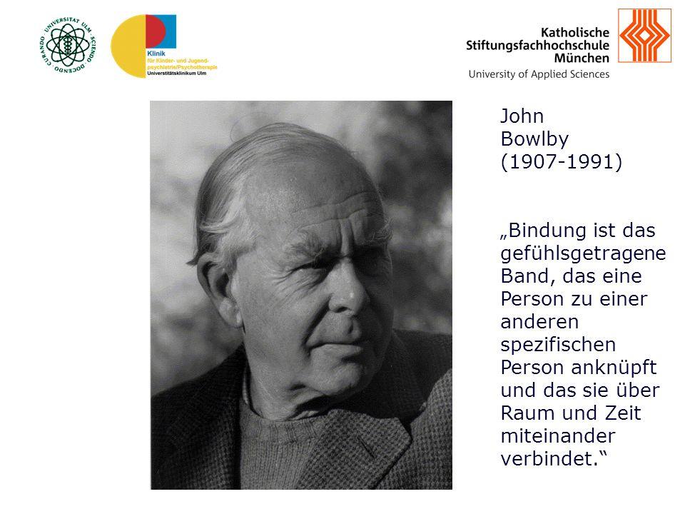 www.ksfh.de John Bowlby (1907-1991) Bindung ist das gefühlsgetragene Band, das eine Person zu einer anderen spezifischen Person anknüpft und das sie über Raum und Zeit miteinander verbindet.