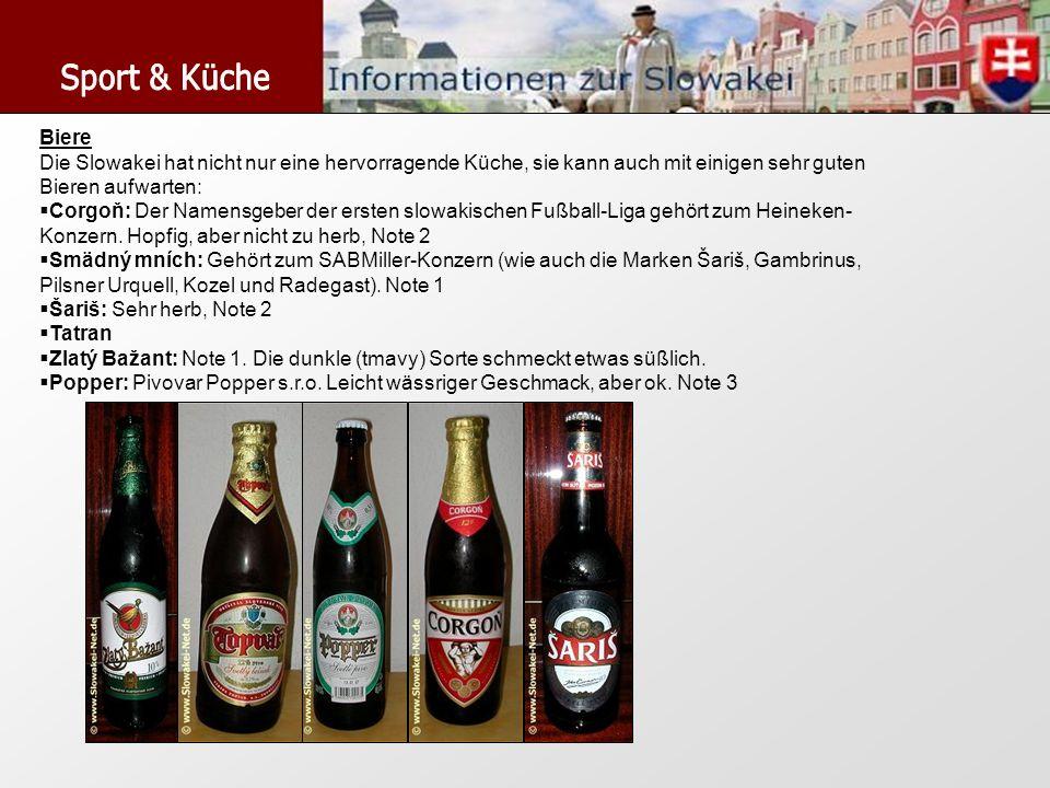 Biere Die Slowakei hat nicht nur eine hervorragende Küche, sie kann auch mit einigen sehr guten Bieren aufwarten: Corgoň: Der Namensgeber der ersten s