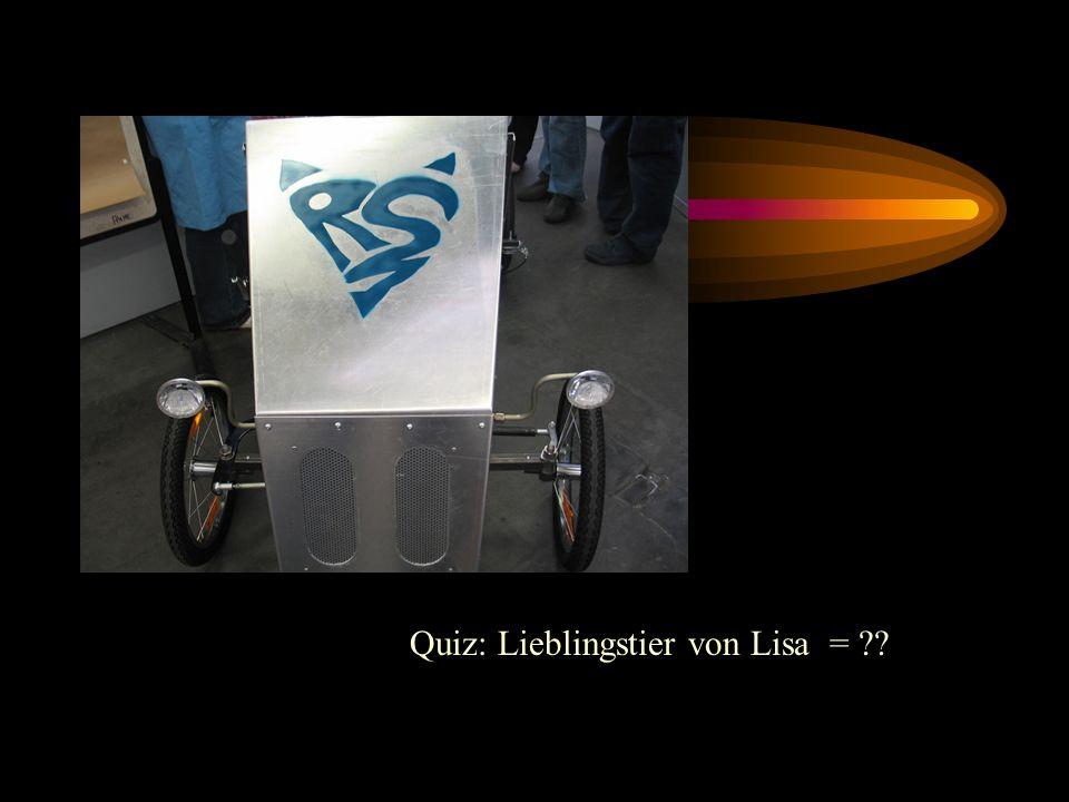 Quiz: Lieblingstier von Lisa = ??