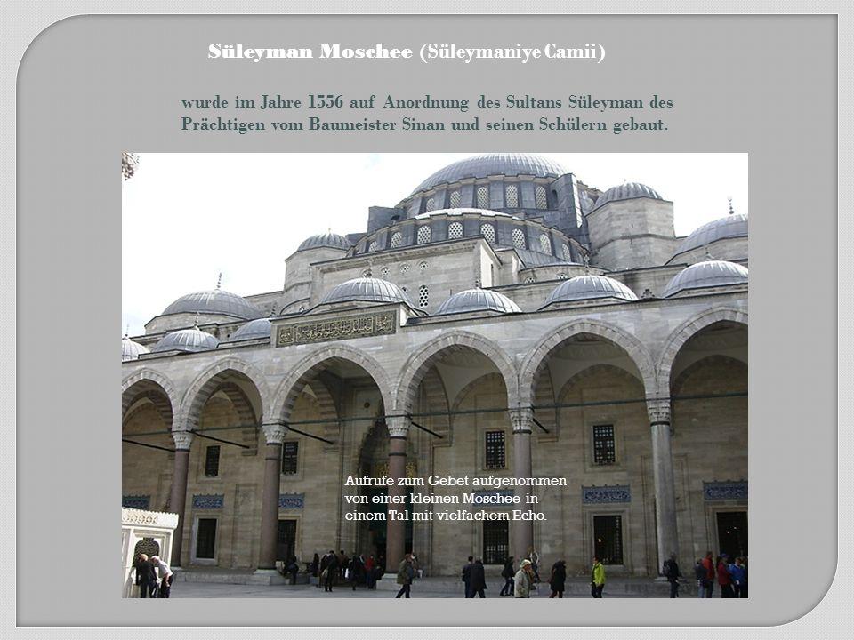 Süleyman Moschee Sultan Ahmed Moschee Blaue Moschee Neue Moschee Goldene Horn Marmarameer Bosporus