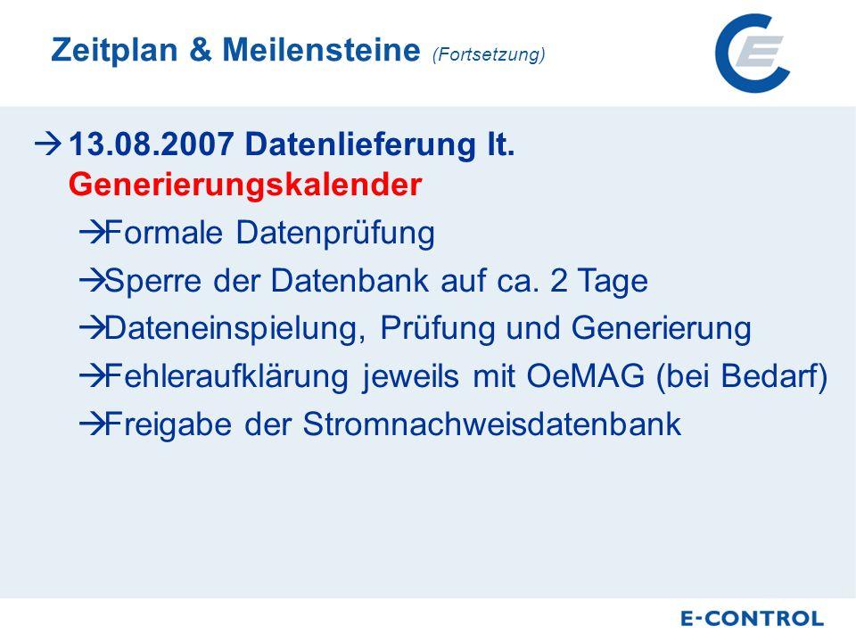 13.08.2007 Datenlieferung lt.