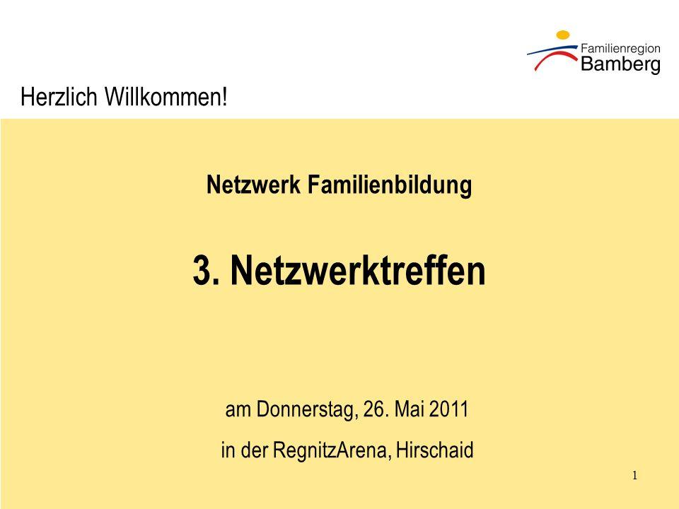 1 Netzwerk Familienbildung 3.Netzwerktreffen am Donnerstag, 26.