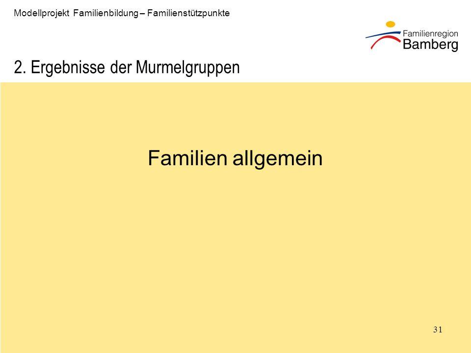 31 Modellprojekt Familienbildung – Familienstützpunkte 2.