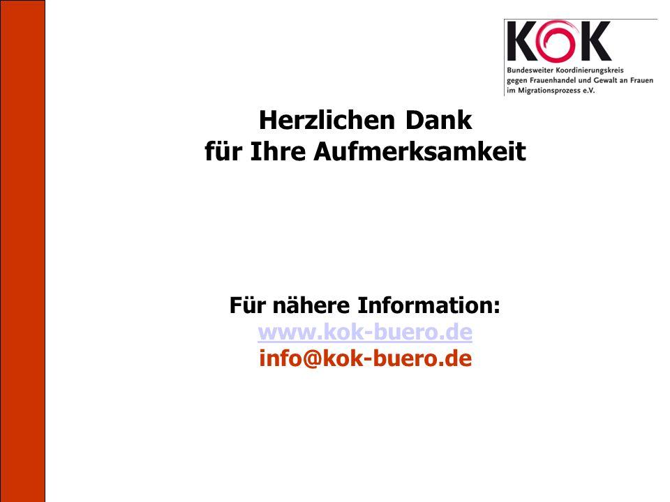 Herzlichen Dank für Ihre Aufmerksamkeit Für nähere Information: www.kok-buero.de info@kok-buero.de