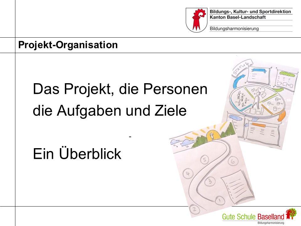 Projekt-Organisation Das Projekt, die Personen die Aufgaben und Ziele - Ein Überblick