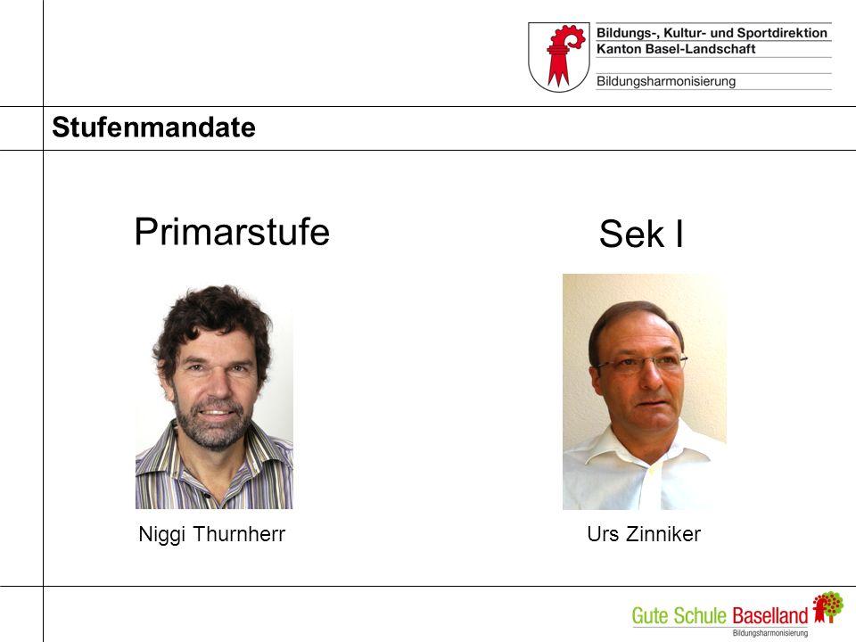Stufenmandate Primarstufe Niggi ThurnherrUrs Zinniker Sek I