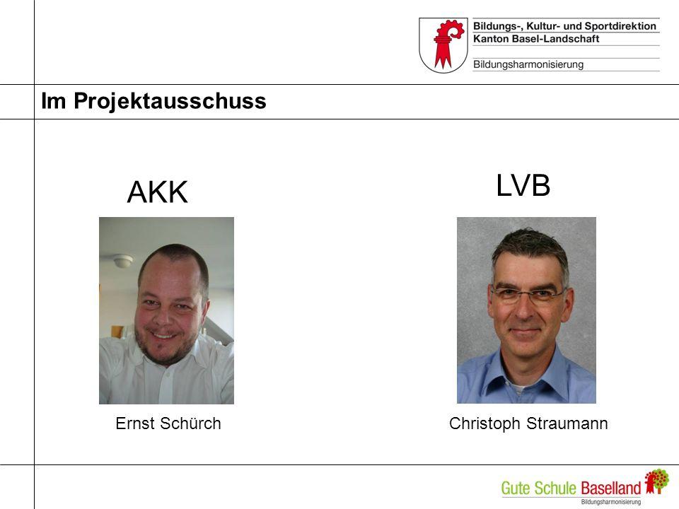 Im Projektausschuss Ernst SchürchChristoph Straumann AKK LVB