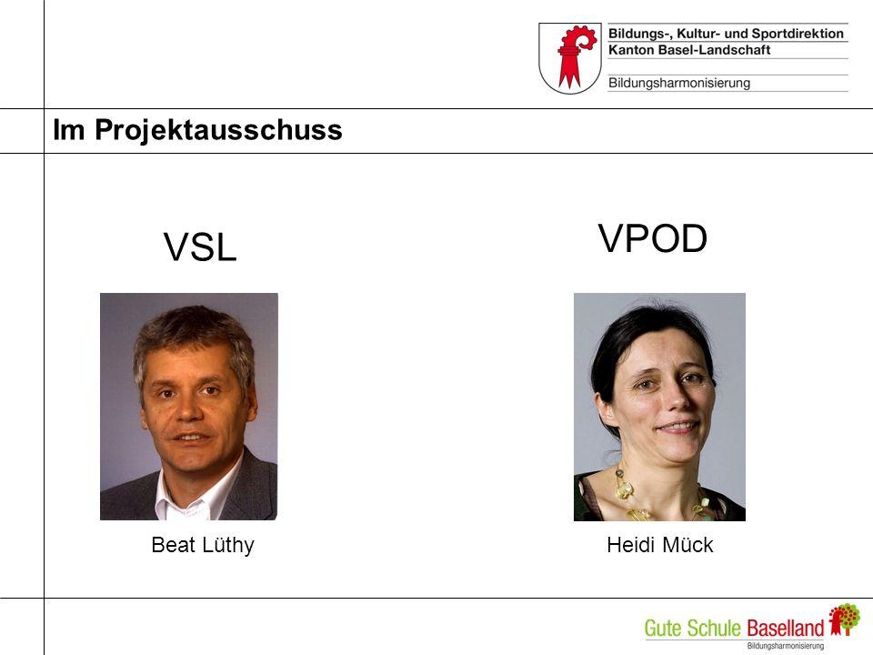 Im Projektausschuss Beat LüthyHeidi Mück VSL VPOD