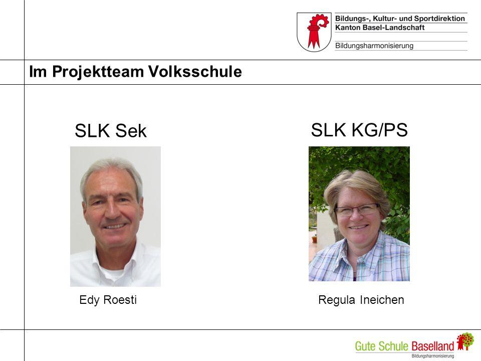 Im Projektteam Volksschule SLK Sek Regula IneichenEdy Roesti SLK KG/PS