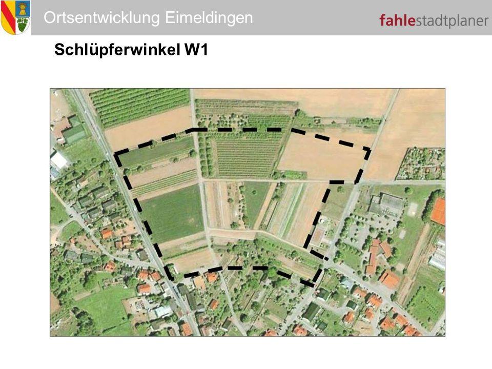 Ortsentwicklung Eimeldingen Schlüpferwinkel W1 W1