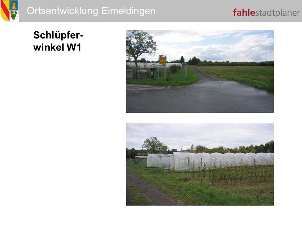 Ortsentwicklung Eimeldingen Schlüpfer- winkel W1