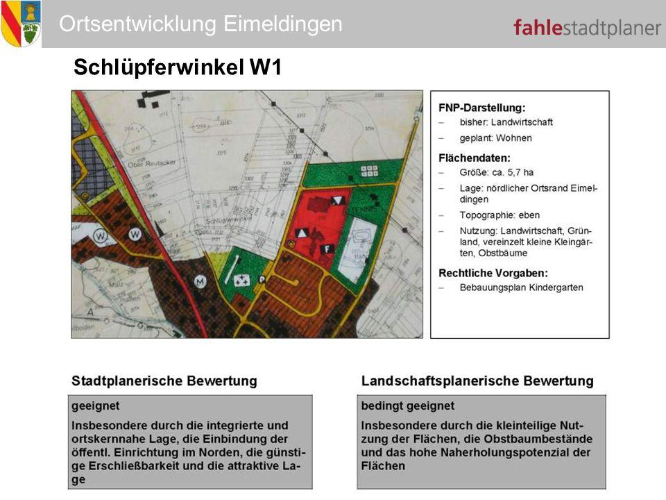 Ortsentwicklung Eimeldingen Schlüpferwinkel W1