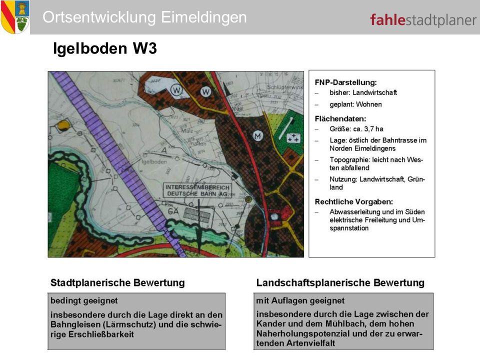 Ortsentwicklung Eimeldingen Igelboden W3