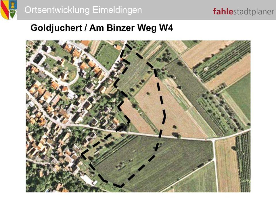 Ortsentwicklung Eimeldingen Goldjuchert / Am Binzer Weg W4 W4