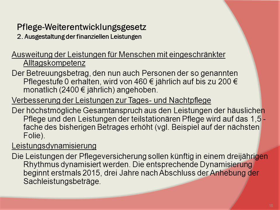 Pflege-Weiterentwicklungsgesetz 2.