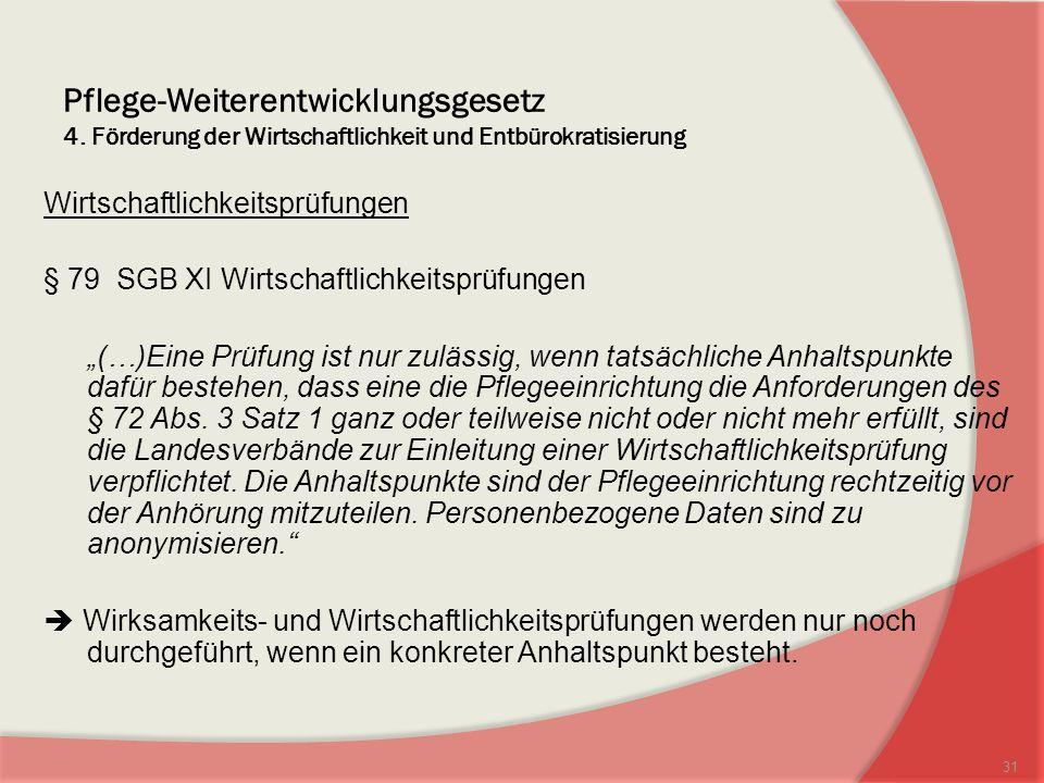 Pflege-Weiterentwicklungsgesetz 4.