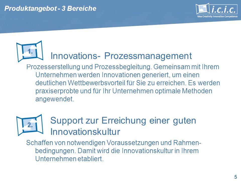 5 Innovations- Prozessmanagement Prozesserstellung und Prozessbegleitung. Gemeinsam mit Ihrem Unternehmen werden Innovationen generiert, um einen deut