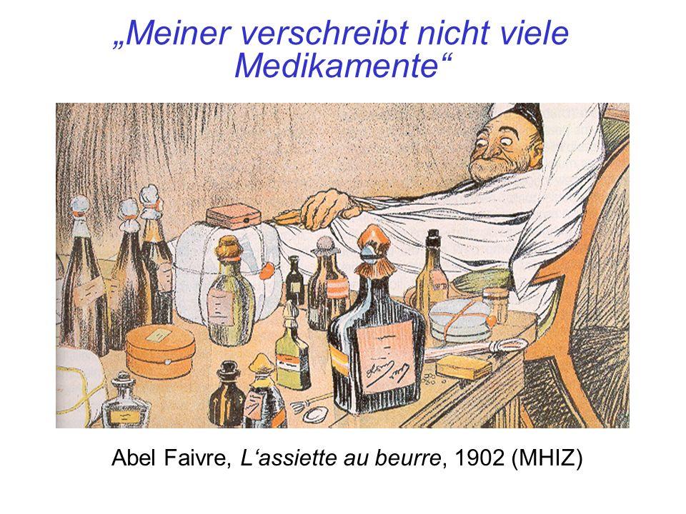 Meiner verschreibt nicht viele Medikamente Abel Faivre, Lassiette au beurre, 1902 (MHIZ)