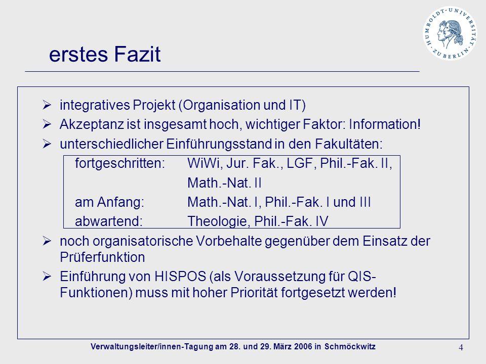 4 erstes Fazit integratives Projekt (Organisation und IT) Akzeptanz ist insgesamt hoch, wichtiger Faktor: Information.