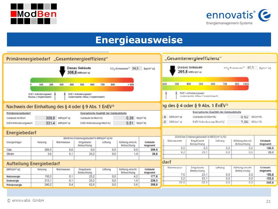 © ennovatis GmbH 21 Energieausweise