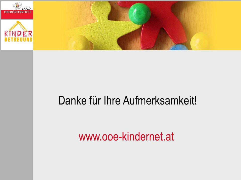 Danke für Ihre Aufmerksamkeit! www.ooe-kindernet.at