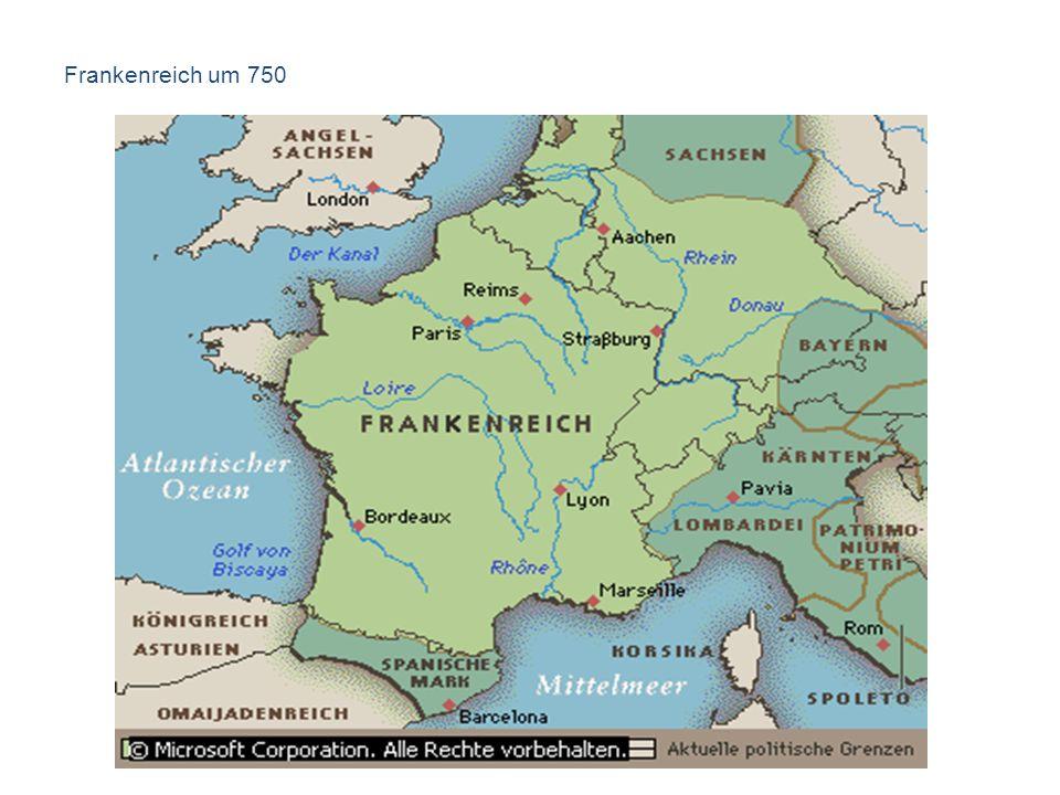 Frankenreich um 750