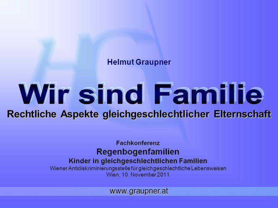 Rechtliche Aspekte gleichgeschlechtlicher Elternschaft Fachkonferenz Regenbogenfamilien Kinder in gleichgeschlechtlichen Familien Wiener Antidiskrimin