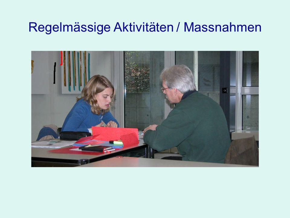 Regelmässige Aktivitäten / Massnahmen