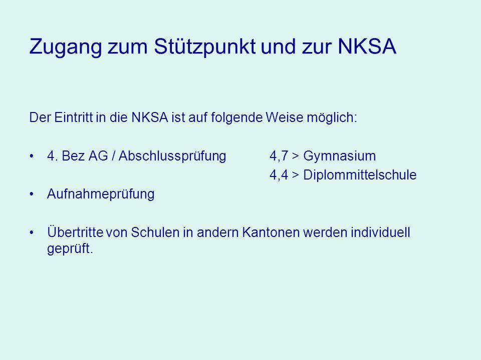 Zugang zum Stützpunkt und zur NKSA Der Eintritt in die NKSA ist auf folgende Weise möglich: 4.
