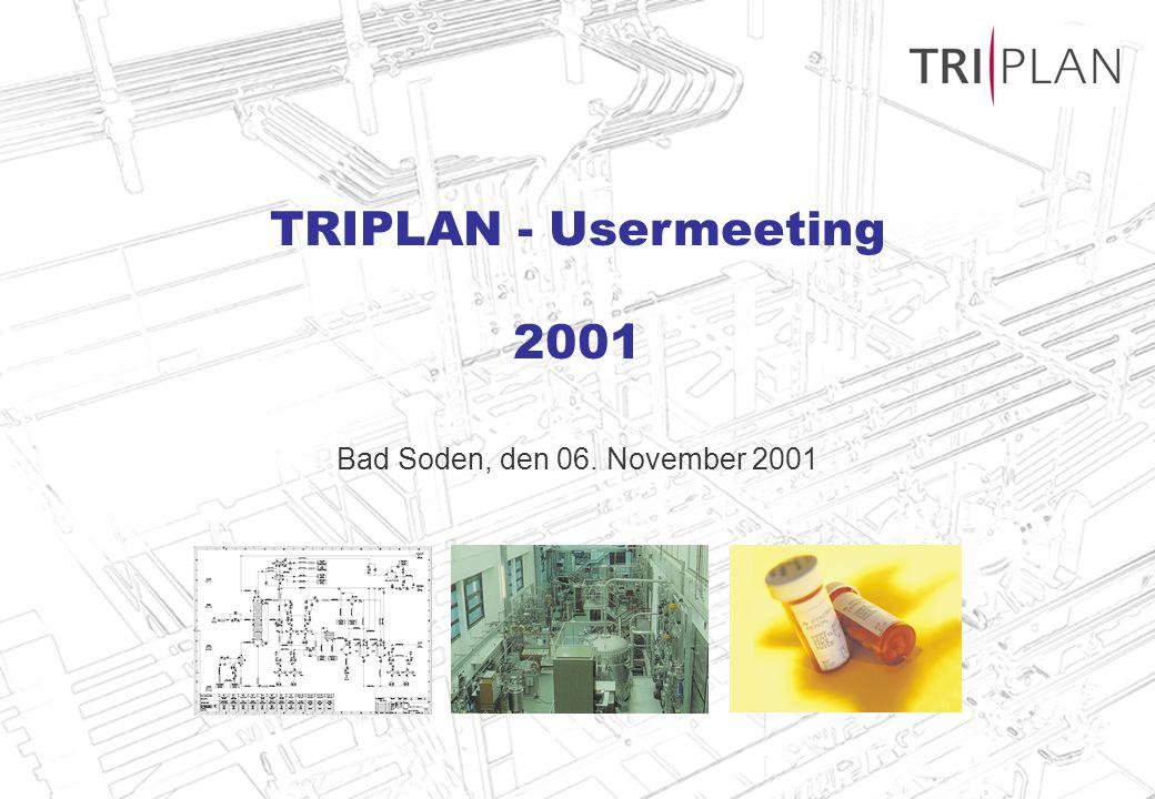 Bad Soden, den 06. November 2001 TRIPLAN - Usermeeting 2001