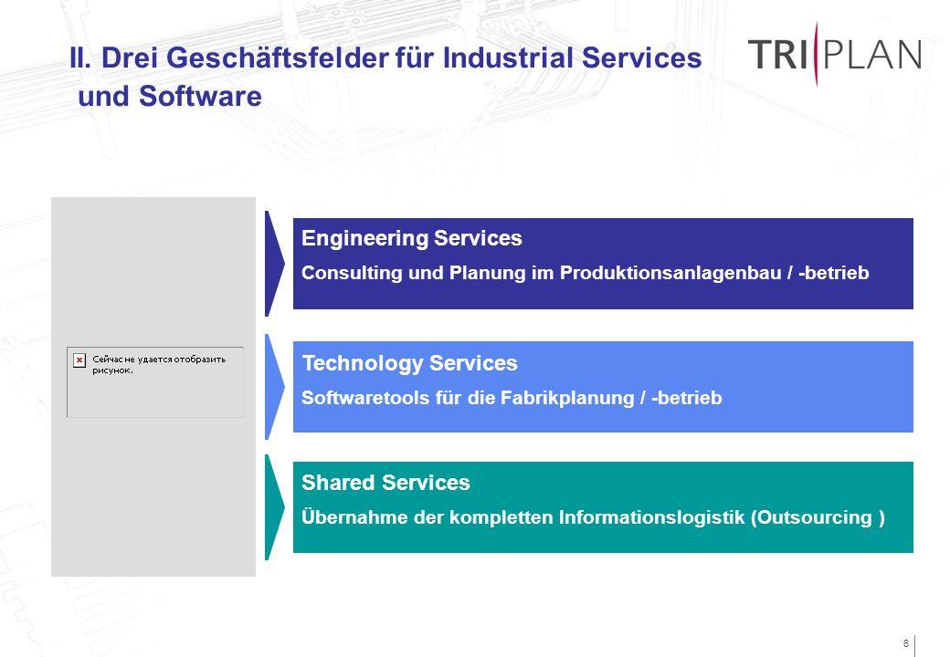 6 Engineering Services Consulting und Planung im Produktionsanlagenbau / -betrieb Technology Services Softwaretools für die Fabrikplanung / -betrieb S
