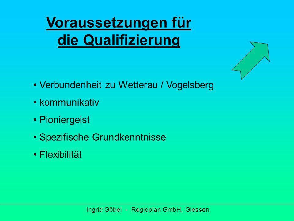 Ingrid Göbel - Regioplan GmbH, Giessen Persönliche Ansprache über Kommunen Ausschreibung in regionaler Presse Informationsveranstaltung Schriftliches Bewerbungsverfahren Bewerbungsgespräch Ca.