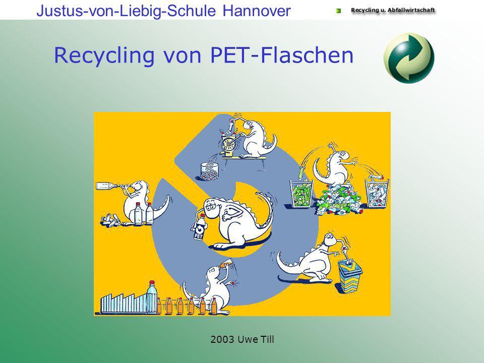 Justus-von-Liebig-Schule Hannover 2003 Uwe Till Recycling von PET-Flaschen