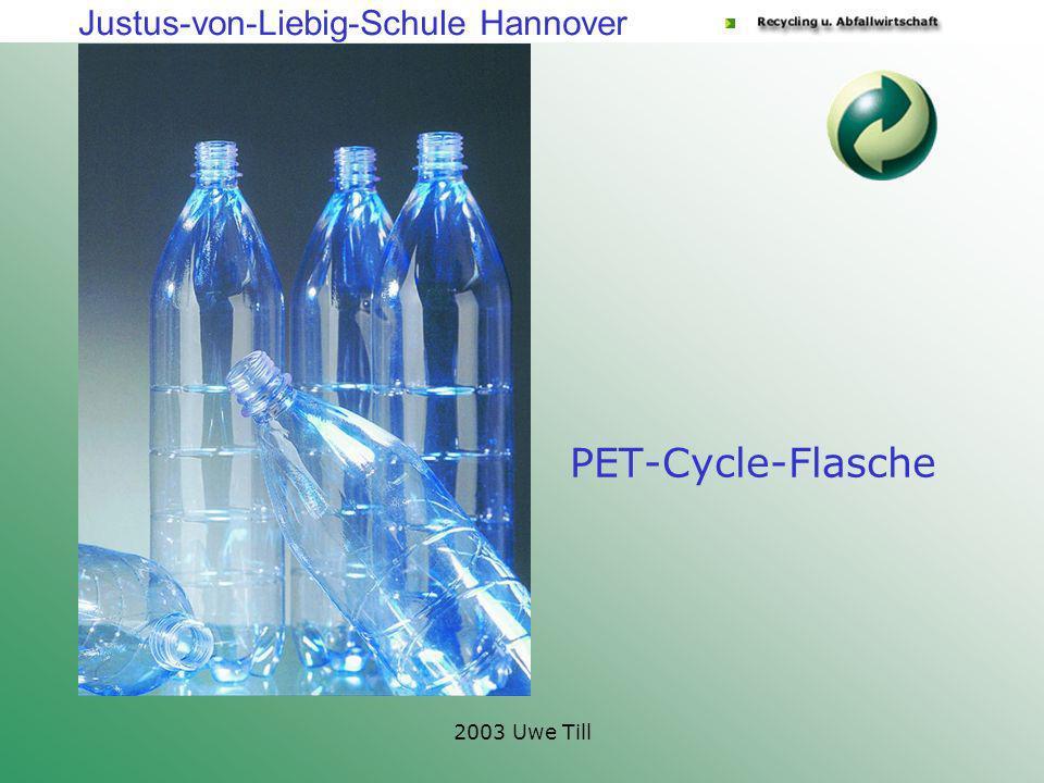 Justus-von-Liebig-Schule Hannover 2003 Uwe Till PET-Cycle-Flasche