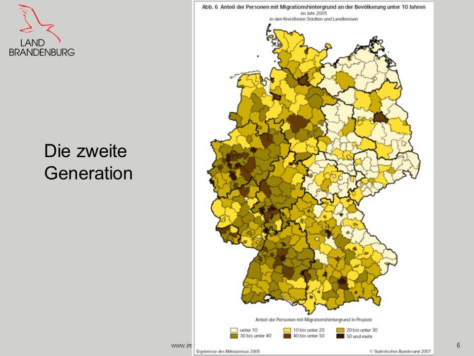 www.integrationsbeauftragte.brandenburg.de6 Die zweite Generation