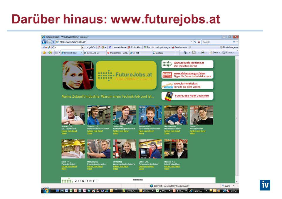 Darüber hinaus: www.futurejobs.at