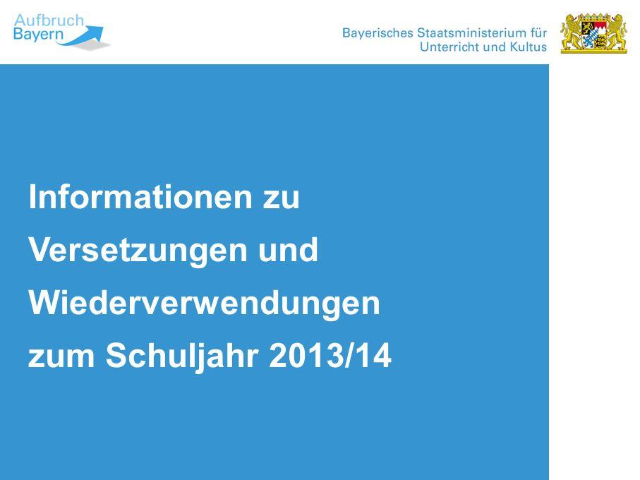 Winkel und Fläche Proportion Untertitel Informationen zu Versetzungen und Wiederverwendungen zum Schuljahr 2013/14