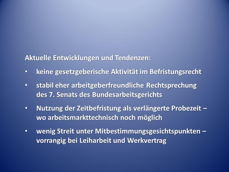 Tarifvertragliche Befristungsregelungen BAG Urt.v.