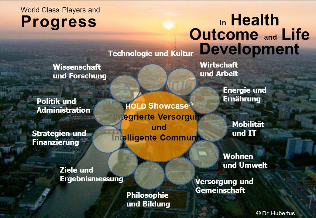 in Health Outcome and Life Development World Class Players and Progress Mobilität und IT Energie und Ernährung Philosophie und Bildung HOLD Showcase ®