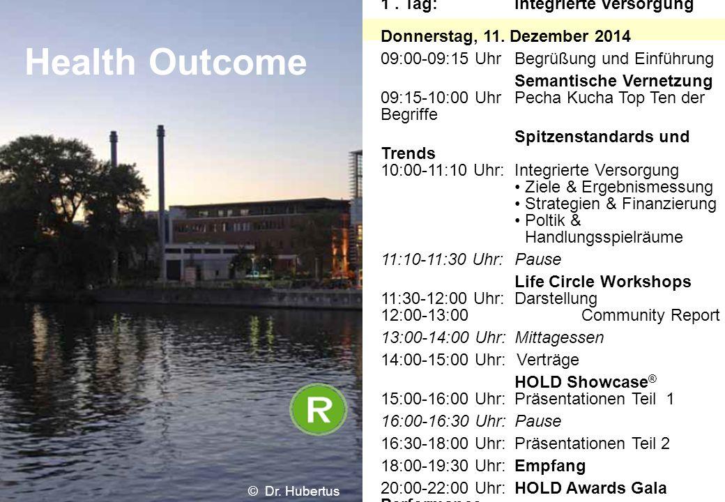 1. Tag:Integrierte Versorgung Donnerstag, 11. Dezember 2014 09:00-09:15 UhrBegrüßung und Einführung Semantische Vernetzung 09:15-10:00 Uhr Pecha Kucha