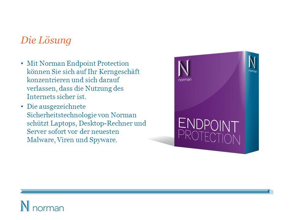 Die Lösung Mit Norman Endpoint Protection können Sie sich auf Ihr Kerngeschäft konzentrieren und sich darauf verlassen, dass die Nutzung des Internets